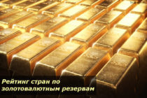 Рейтинг стран по золотовалютным резервам на 2019 год