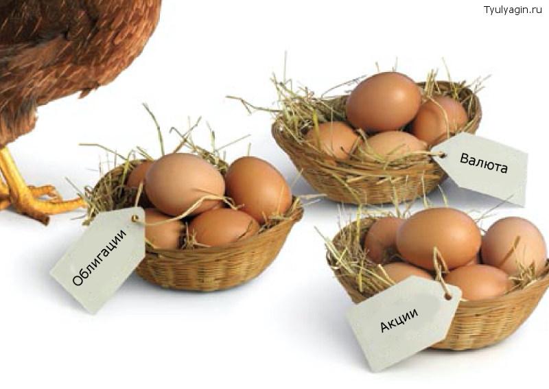 диверсификация не клади все яйца в одну корзину