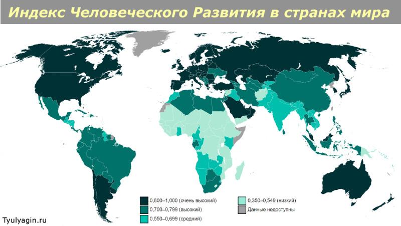 Рейтинг и показатели индекса человеческого развития стран мира
