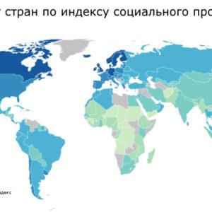 Рейтинг стран мира по индексу социального прогресса (развития)