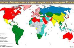 Список безвизовых стран для россиян на 2020 год