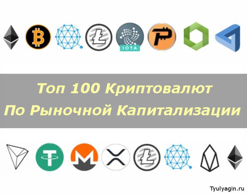 Топ 100 криптовалют по рыночно капитализации. Рейтинг 2020