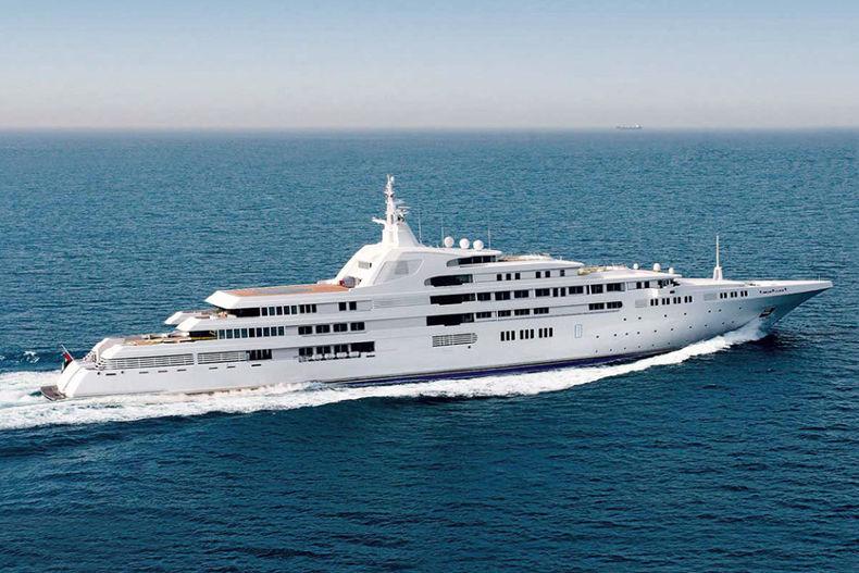 Яхта Dubai. Стоимость - 400 млн $. Владелец - Мухаммед бин Рашид Аль Мактум