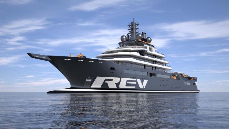 Яхта REV Ocean. Стоимость - 450 млн $. Владелец - Кьелл Инге Рокке
