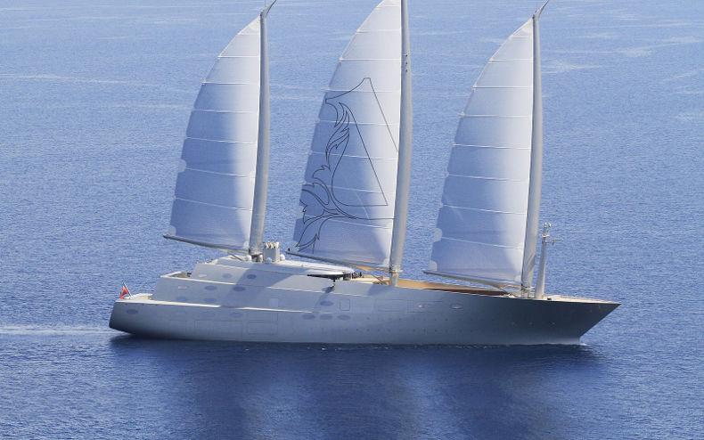Яхта Sailing Yacht A. Стоимость - 500 млн $. Владелец - Андрей Мельниченко.