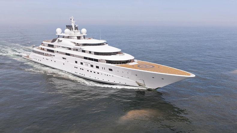 Яхта Topaz. Стоимость - 527 млн $. Владелец - вице-президент ОАЭ
