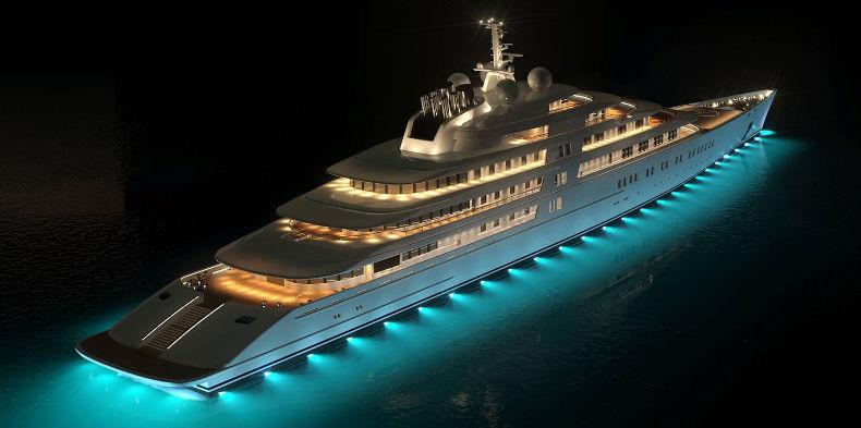 Яхта Azzam. Стоимость - 620 млн $. Владелец - президент ОАЭ.