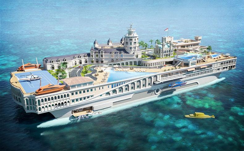 Яхта Streets of Monaco. Стоимость - 1.1 млрд $
