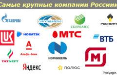 Рейтинг крупнейших компаний России 2020
