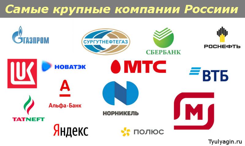 Рейтинг крупнейших компаний России 2020 (логотипы)
