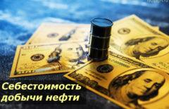 Себестоимость добычи нефти по странам мира 2020