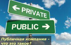 Публичная компания - что это такое?