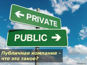 Публичная компания - что это такое