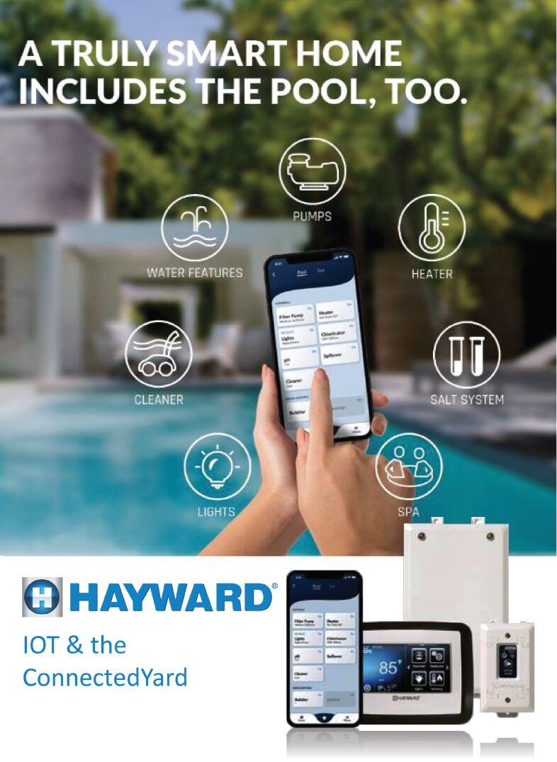 Интернет вещей для бассейнов Hayward Holdings Inc