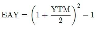эффективная годовая доходность формула