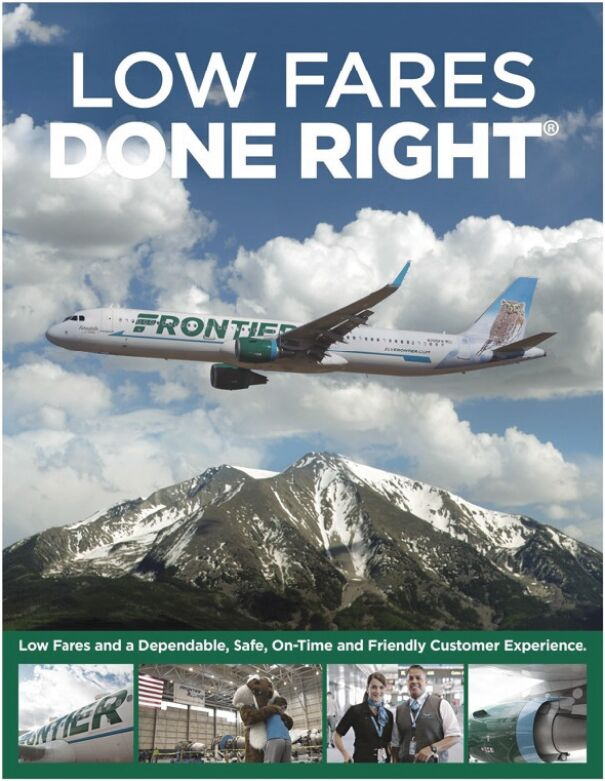 Frontier Group Holdings Frontier Airlines Low Fares Done Right