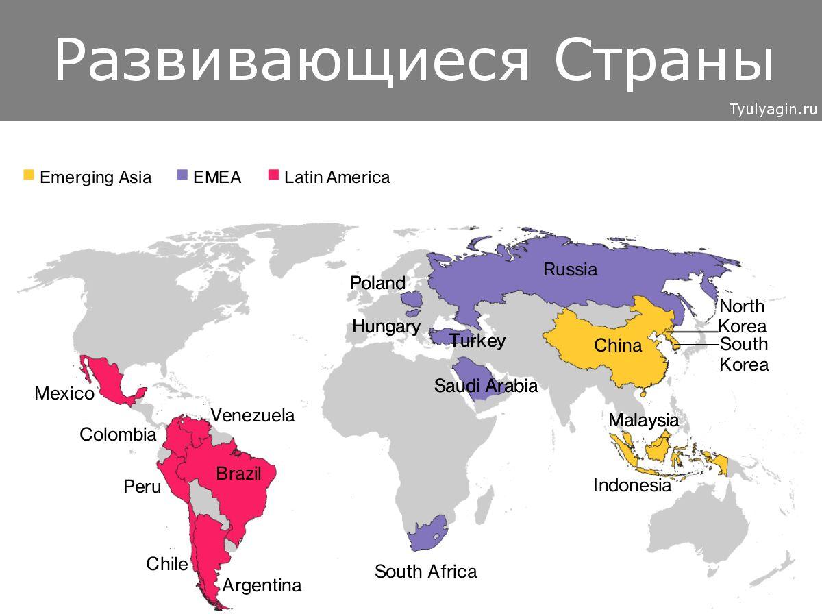 Развивающиеся страны и рынки с рыночной экономикой