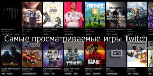 Самые популярные и просматриваемые игры на Twitch
