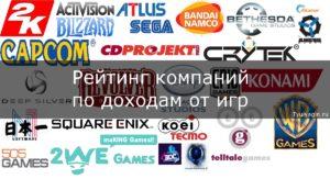 Топ 25 крупнейших компаний по доходам от игр